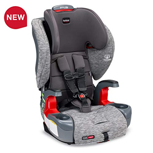 Britax Grow with You ClickTight Harness-2-Booster Car Seat – 2 Layer Impact Protection – 25 to 120 Pounds, Asher [Newer Version of Frontier]