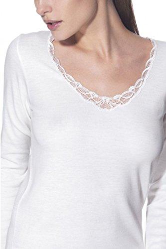 Maglietta donna manica lunga in pizzo