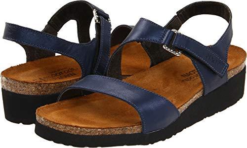 Naot Footwear Women's Pamela Polar Sea Leather Sandal 41 (US Women's 10) M