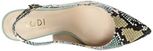 lodi Edna3, Zapatos de Tacón con Punta Cerrada Para Mujer, Varios Colores (Anaconda Mauve/Aloe/Canela), 36 EU