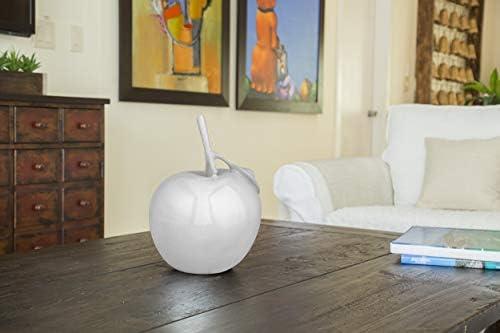 Finesse Decor Apple Sculpture Decorative Table Centerpiece Artistic Modern Home Decor Accent