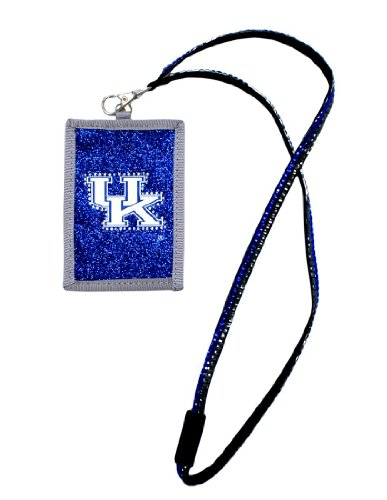 NCAA Kentucky Wildcats Beaded Lanyard with Nylon Wallet (Wildcats Purse)