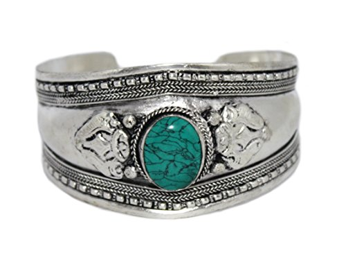 - Turquoise Bracelet Silver Bracelet Tribal Bracelet Cuff Bracelet Boho Bracelet BB203