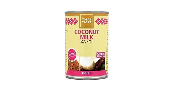 Sabor Tailandés 400 Ml De Leche De Coco - Paquete de 4: Amazon.es: Alimentación y bebidas