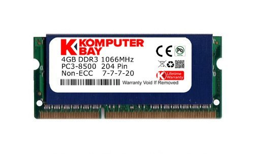 PC3-8500 DDR3 a 1066MHz 204 PIN SODIMM Memoria del computer portatile per Apple Mac Mini 2x 4GB Komputerbay 8GB