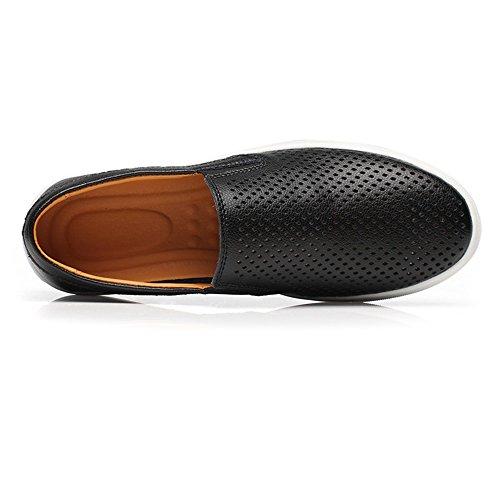 Upper Bk Style In Ruiyue Men Uomo Opzionale perforazione Vera Slip Mocassini Scarpe Flat Per Simple Perforation on Pelle IzAqT0