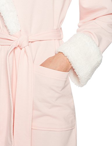 Arabella Womens French Terry and Shaggy Plush Short Wrap Robe ... f2b5c31fe