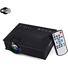 TRONFY TP46 WiFi LCD LED Portable Video Projector 800x480 Full Color 130-inch Wireless Home Cinema Theater Support Miracast Airplay DLNA