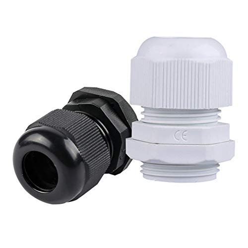 100 Pcs Plastic Cable Waterproof Connector Nbr Fixed Head Gran Head Connector (M16*1.5, Black):