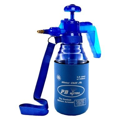 - PB Misters Mister Chill Jr, Personal Pump Mister with Pressure Relief Handle and Neoprene Sleeve (Blue)