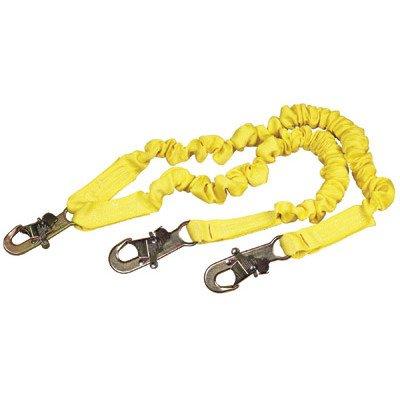 [DBI/SALA 1244406 ShockWave2 100% Tie-Off Shock Absorbing Lanyard with Self Locking Snap Hooks at Center and Leg Ends,] (Arrest Shoes Adult)