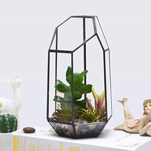 Eoeth Big Sale!Geometric Fleshy Glass Flower House Crafts Greenhouse Flower Pot(Shipped by US) Free Post