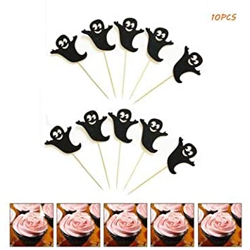 Carnival Halloween Party Ideas.Amazon Com Halloween Cupcake Toppers 10pcs Black Cat