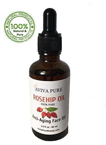 Aviva Pure Rosehip Oil, 100% Pure Virgin, Cold Pressed/Unrefined, Best Natural Moisturizer to Heal Dry Skin, Fine Lines and Scars, Rose Hip Seed for Hair Face and Skin, 2oz Review