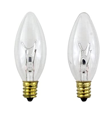 PHILIPS 40-Watt Clear Ceiling Fan Light Bulbs - Candelabra Base B8 (2-Pack)