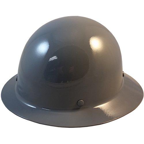 MSA Skullgard Full Brim Hard Hat with FasTrac III Ratchet Suspension - Gray
