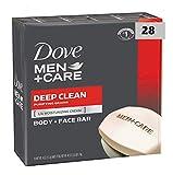 Dove Men+Care Deep Clean Body and Face Bar 4 oz, 28 Bar (28 Bar)