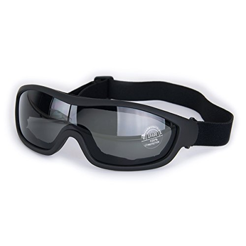 Safety Glasses Motorcycle Sunglasses - Viriber Motorcycle Goggles Bike Goggles UV Protective Outdoor Glasses Dust-proof Protective Combat Goggles Military Sunglasses Outdoor Tactical Goggles (Black-Safety Goggles)