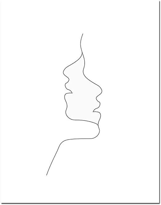 Peinture Calligraphie Croquis Mur Art Ligne Dessin Print