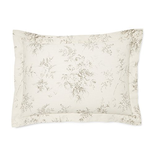 Ralph Lauren Standard Sham Hoxton Collection Anslie 100% Cotton - Ralph Lauren Bedding Collections