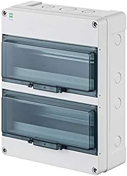 fuse box small distribution board wet room sub-distribution ip65 2 rows for  26 automatic outdoor use: amazon.de: baumarkt  amazon.de