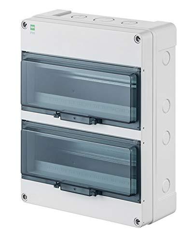 Sicherungskasten Kleinverteiler Feuchtraum Unterverteilung IP65 2reihig f.26 Automaten Auß enbereich Elektro Plast
