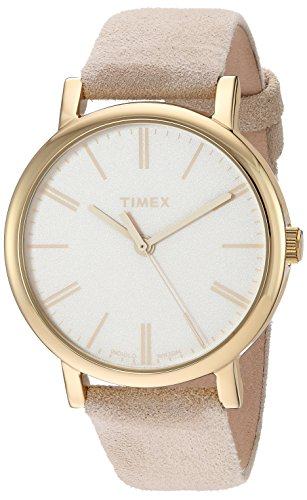 Timex Women's TW2P96200 Originals Tonal Beige Leather Strap (Beige Leather Strap Watch)
