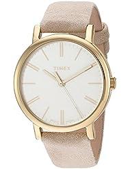 Timex Womens TW2P96200 Originals Tonal Beige Leather Strap Watch