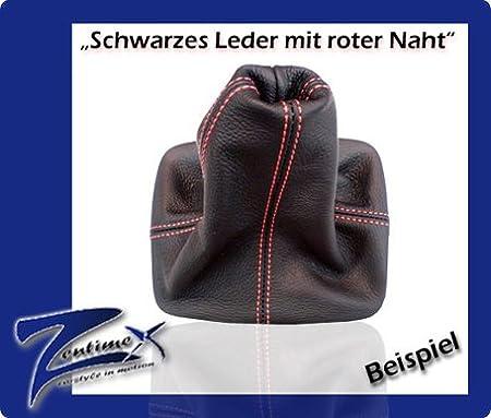 Schaltmanschette Schaltsack Für Opel Omega B Fl 99 03 Leder Leder Schwarz Nahtfarbe Rot Auto
