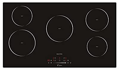 "Empava 36"" Electric Induction Cooktop With 5 Booster Burners Smooth Surface Black Tempered Glass EMPV-IDC36"