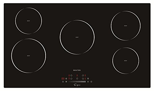 "Empava 36"" Electric Induction Cooktop With 5 Booster Burners Smooth..."
