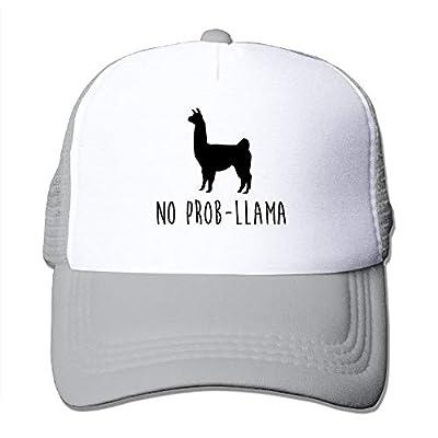 bdrg No Prob-Llama Funny Caps Unisex Mesh Strapback Hat