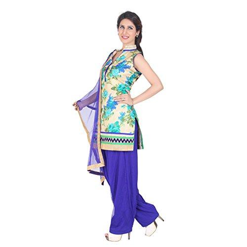 Patiala Salwar Suit Indiano Salwar Kameez Bollywood Usura Del Partito Royal Blue