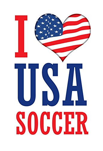 Laminated I Love USA Soccer World Cup Sports Poster Print