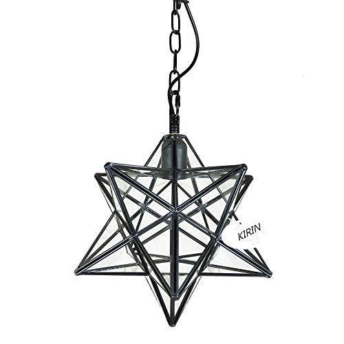 Kirin Retro Style Moravian Star Pendant Light Hanging Ceiling Light