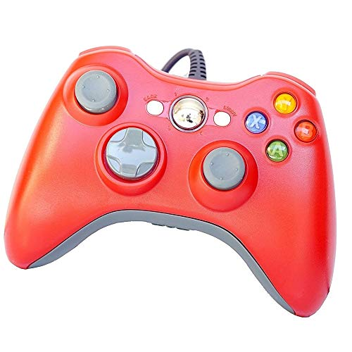 PomeMall USB Wired Game Pad Controller for Xbox 360, Windows 7 (X86), Windows 8 (X86) (Red) ()