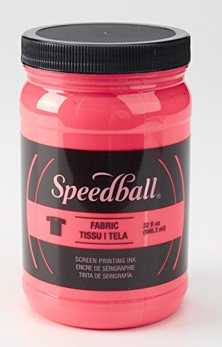 Speedball 004693 Fluorescent Screen Printing Ink, 32 Fl. oz, Hot Pink by Speedball