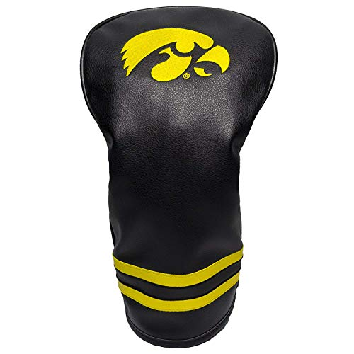 Headcover Golf Iowa - Team Golf NCAA Iowa Hawkeyes Vintage Driver Golf Club Headcover, Form Fitting Design, Retro Design & Superb Embroidery