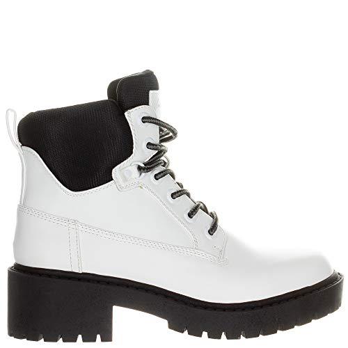 KENDALL + KYLIE Women's Weston Combat Boot White Size 6 (White Weston)