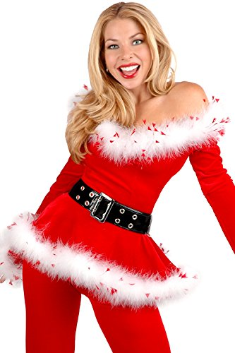 Black Friday PEGGYNCO Christmas Womens Customes Rabbit Fur with Belt Color Red (Jovi Elf Costume)