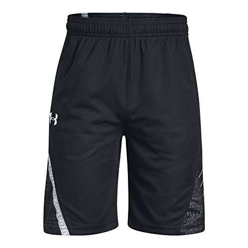 Under Armour Boys SC30 Short, Black (001)/White, Youth ()