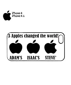 Three Apples Changed the World Cell Phone Case Cover iPhone 4&4s Black