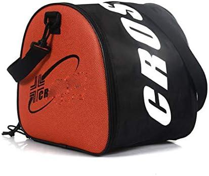 バスケットボールバッグショルダーストラップ付きバスケットボールサッカーストレージバッグケース用の実用的なポータブルラージバッグ、アウトドアスポーツショルダーサッカーボールPVCバッグトレーニングバッグ機器アクセサリー, Black