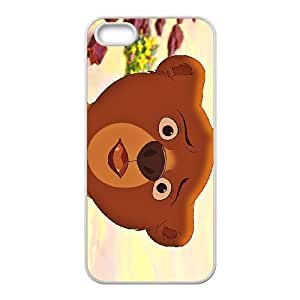 iPhone 5 5s Cell Phone Case White Disney Brother Bear Character Koda 001 KWL0518128