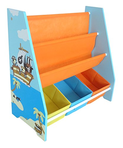 Bebe Style Children's Pirate Wooden Storage Rack/Sling Bookcase