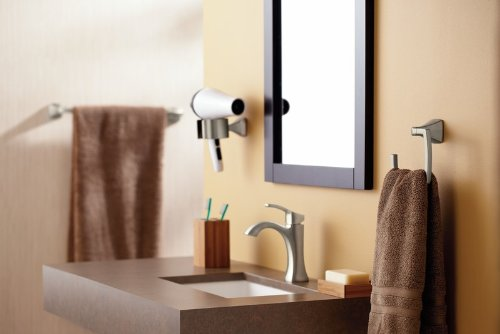 Moen YB5124BN Voss 24-Inch Bathroom Towel Bar, Brushed Nickel by Moen (Image #3)