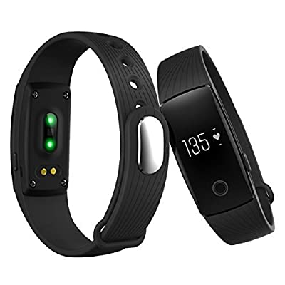 Fitness Tracker, Heart Rate Monitor Watch, Sokos Bluetooth Smart Fitness Tracker Armband | Wristband | Bracelet with OLED Display and free iOS Android APP