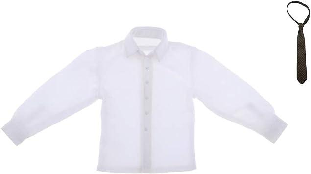 sharprepublic 1/6 Escala Mans Camisa Blanca con Hot Toys DML ...