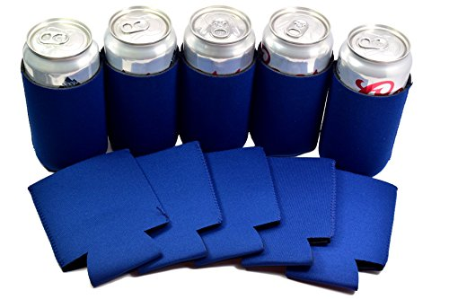 QualityPerfection 12 Navy Blue Neoprene Party Drink Blank Can Coolers Blank Beer ,Soda Coolies Sleeves | Soft, Insulated Coolers | 7 Colors | Perfect For DIY Projects,Holidays,Businesses,Events Navy Blue Neoprene Bottle