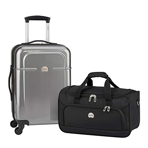 - Delsey Luggage Fashion 2-Piece Set, Carry-On Suitcase and Free Duffel Bag (Anthracite)